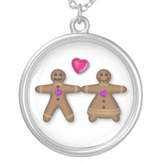 """Gingerbread couple in love"" Necklace"