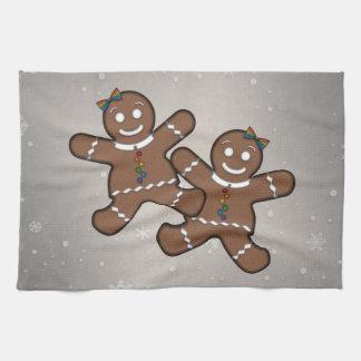 Gingerbread Couple Lesbian Pride Tea Towel