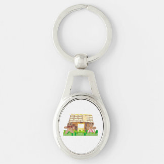 Gingerbread Couple Metal Keyring