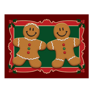 Gingerbread Couple Postcard