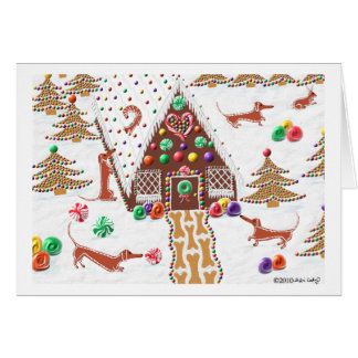 Gingerbread Dachshund Card