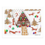 Gingerbread Dachshund Postcard