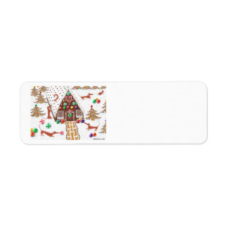 Gingerbread Dachshunds Return Address Label