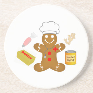 Gingerbread Doctor Tools of the Trade Beverage Coaster