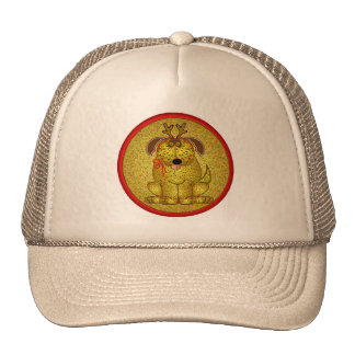 Gingerbread Dog Christmas Cookie Hat