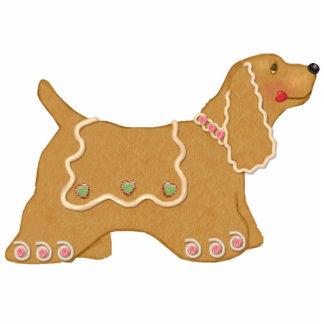Gingerbread Dog Ornament Photo Sculpture Decoration