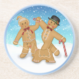 Gingerbread Family Drink Coaster