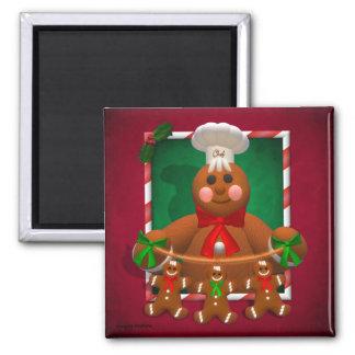 Gingerbread Family: Funny Baker Magnet