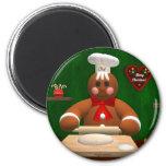 Gingerbread Family: Little Baker 6 Cm Round Magnet
