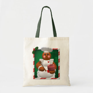 Gingerbread Family: Little Bakery Girl Budget Tote Bag