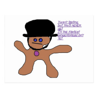Gingerbread fast Postcard