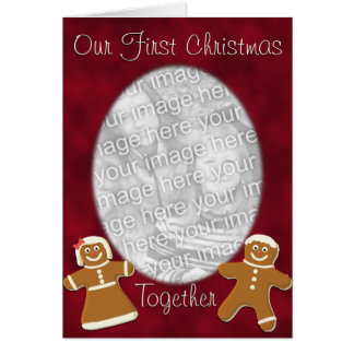 Gingerbread First Christmas Together Greeting Card