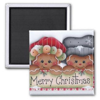 Gingerbread Folks Merry Christmas Magnet