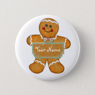 Gingerbread Fun 6 Cm Round Badge