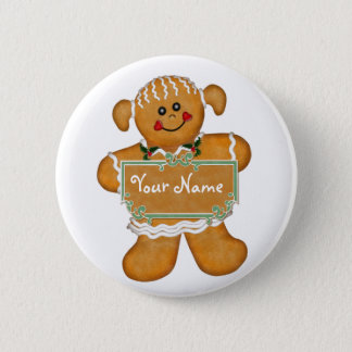 Gingerbread Fun 6 Cm Round Badge