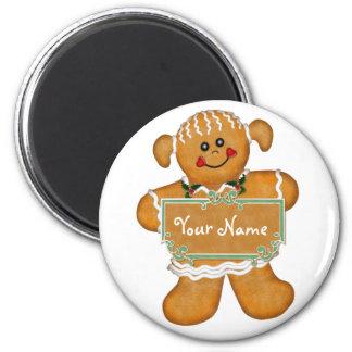 Gingerbread Fun 6 Cm Round Magnet