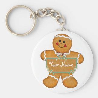 Gingerbread Fun Basic Round Button Key Ring