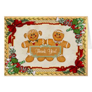 Gingerbread Fun Holiday Thank You Greeting Card