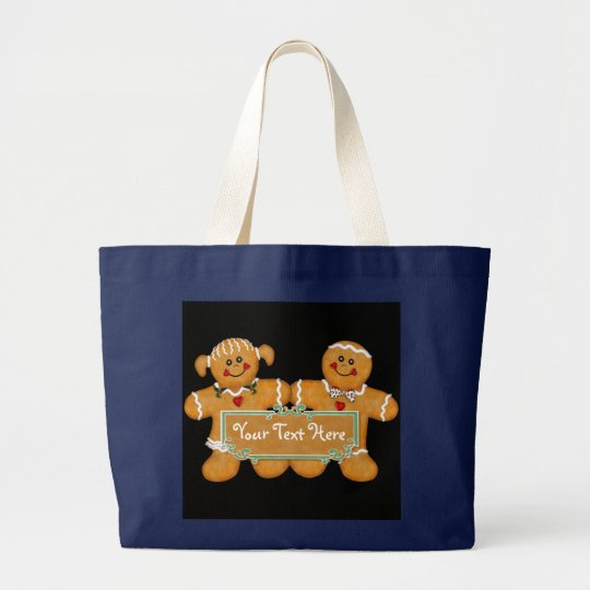 Gingerbread Fun Large Tote Bag