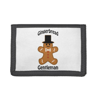 Gingerbread Gentleman Trifold Wallets