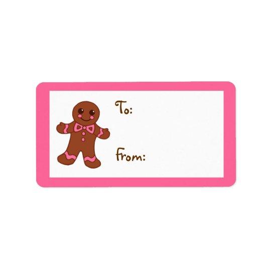 Gingerbread Gift Tag Label Address Label