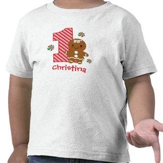 Gingerbread Girl 1st Birthday T-shirt