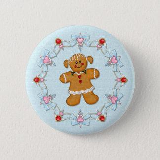 Gingerbread Girl 6 Cm Round Badge