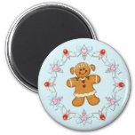 Gingerbread Girl 6 Cm Round Magnet