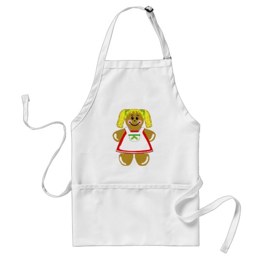 Gingerbread Girl - Adult or Kids Apron
