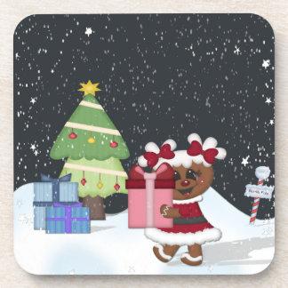 Gingerbread Girl Beverage Coaster