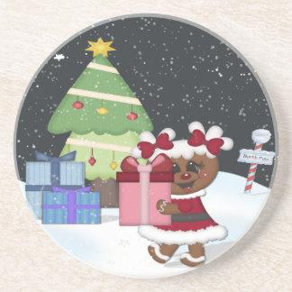 Gingerbread Girl Beverage Coasters