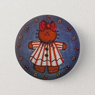 Gingerbread Girl Button Pin