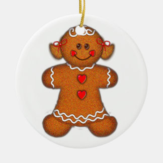 GINGERBREAD GIRL by SHARON SHARPE Christmas Ornament