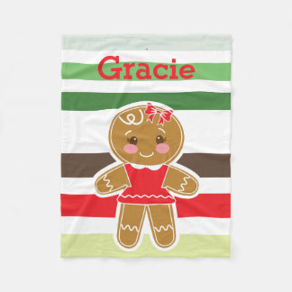 Gingerbread Girl Christmas Blanket