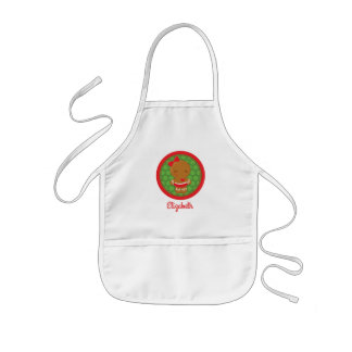 Gingerbread Girl Personalized Kids Christmas Apron
