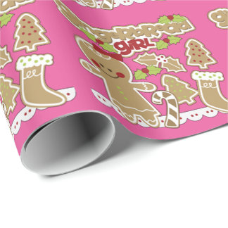 Gingerbread Girl Wrapping Paper