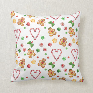 Gingerbread Gumdrops & Mints Pillow Cushions