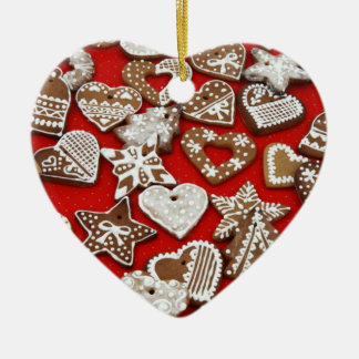Gingerbread Heart Christmas Ornament