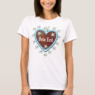 Gingerbread heart your text Octoberfest T-Shirt