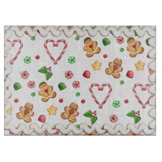 Gingerbread & Hearts Iced Cutting Board