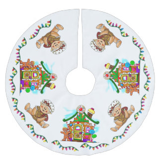 """""""GINGERBREAD HOLIDAY"""" BRUSHED POLYESTER TREE SKIRT"""