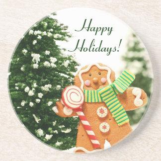 Gingerbread Holiday Coaster