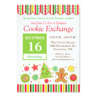 Gingerbread Holiday Cookie Exchange Invitation