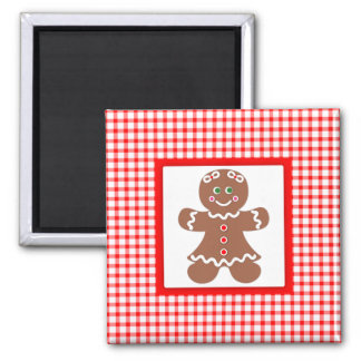 Gingerbread Holiday Girl Magnet