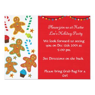 Gingerbread Holiday Invitation