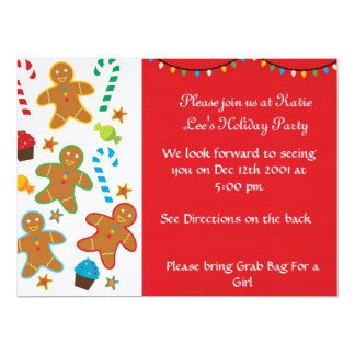 Gingerbread Holiday Invitation