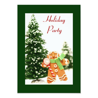 Gingerbread Holiday Party Invitation