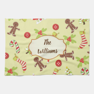 Gingerbread Holiday Tea Towel