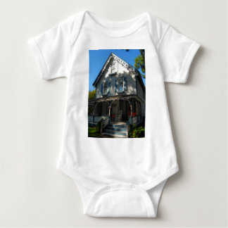 Gingerbread house 11 baby bodysuit