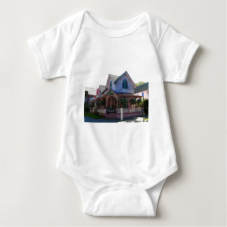 Gingerbread house 23 baby bodysuit